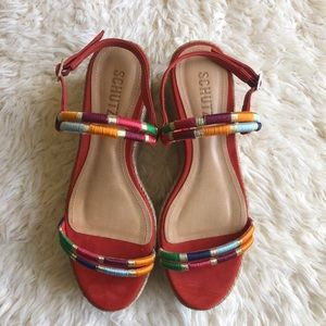 SCHUTZ Shoes - ❌SOLD❌Schutz Platform Multi-color Wedges Sandals